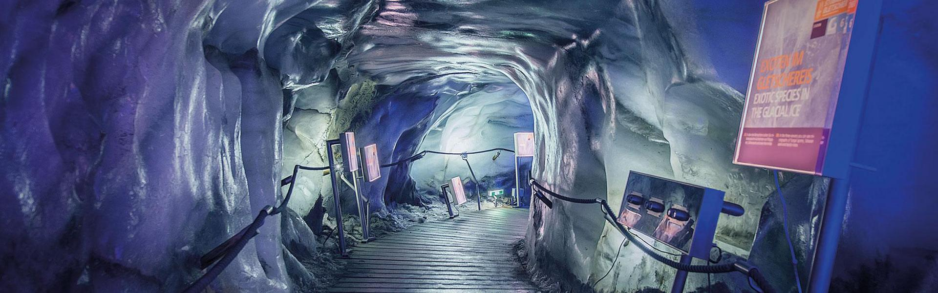 Tour of the Stubai Glacier ice grotto