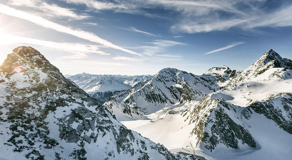 Tyrolean snow-sure ski area in good weather