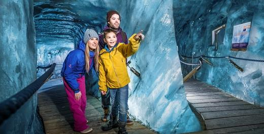 Exploring the Ice Grotto in the Tyrol