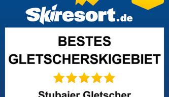 2019 distinction by Skiresort: Stubai Glacier as best glackier ski area