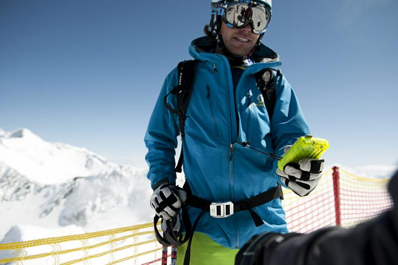 Skiers' equipment check