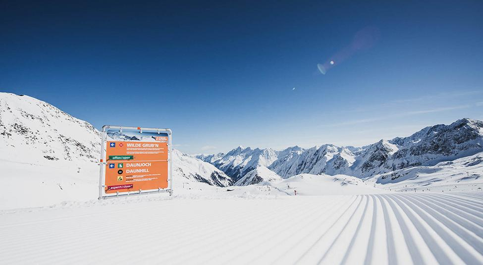 Wilde Grubn on the Stubai Glacier: 10km of downhill fun